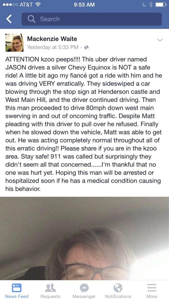 Kalamazoo Facebook Uber Shooter
