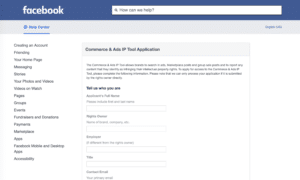 Facebook IP reporting tool