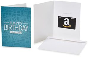 Amazon gift card in a greeting card