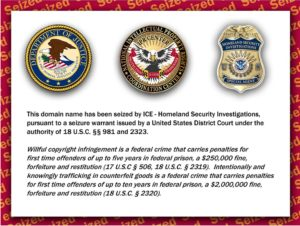 counterfeiting warning provided by US government